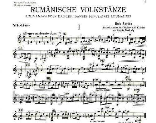 Bartok's Romanian Folk Dances